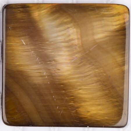 overflows: beautiful natural light brown pearl pearl with iridescent tints in the form of a square plate for mosaics