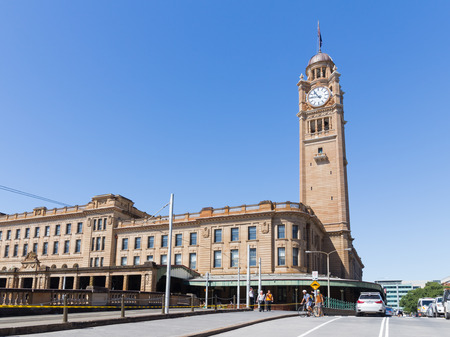 going places: Sydney - February 25, 2016: Beautiful Sydney Central Station and Clock Tower February 25, 2016, Sydney, Australia Editorial