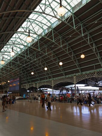 go inside: Sydney - February 25, 2016: Beautiful Sydney Central Station, and a lot of people and tourists traveling to Australia February 25, 2016, Sydney, Australia
