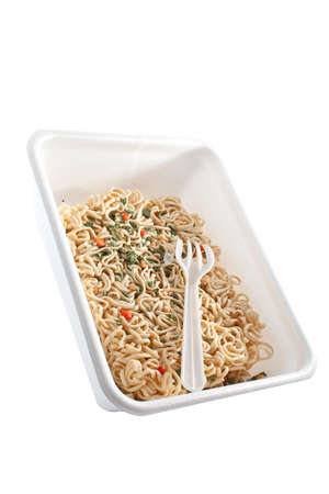 egg noodles of fast preparation photo
