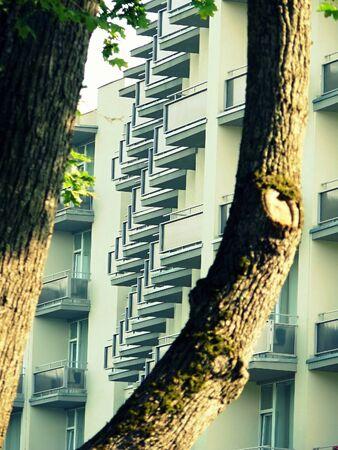 multy: multi-storey building and a tree in Odessa, Ukraine