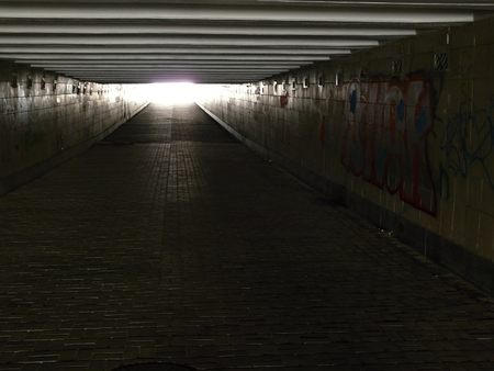 ukranian: underpass in the city of Kiev Ukraine Stock Photo