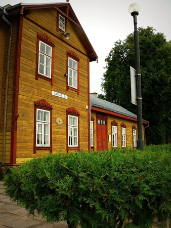 narrow gauge railway: Old railway station narrow gauge railway in Lithuania