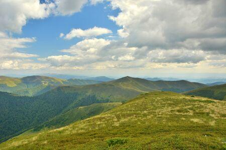 beautiful views of the mountains peaks of the Carpathians Фото со стока