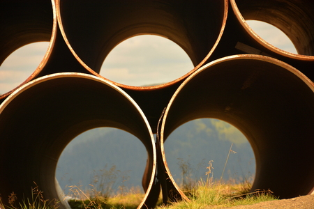 diameter: large pipe on top of the mountain