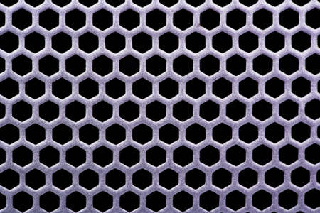 metal grate: Background metal grate with holes Stock Photo