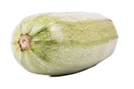 vegetable marrow: One green vegetable marrow closeup shot on a white background Stock Photo