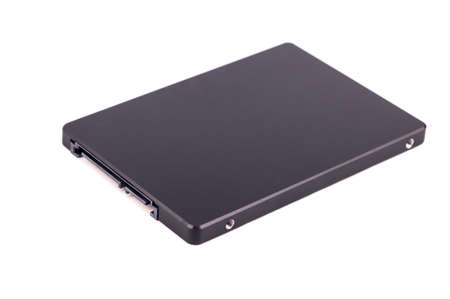 solid state drive: Black solid state drive (SSD) for your computer isolated on a white background