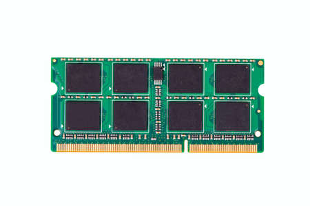 dimm: RAM modules for notebook isolated on white background top view Stock Photo