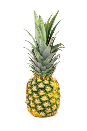Fresh tropical fruit pineapple isolated on a white background