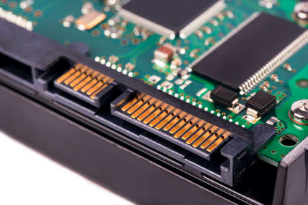 sata: Connector of Sata and the power for the HDD close-up