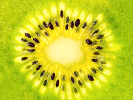 kiwi: Background from halves of juicy ripe tropical fruit kiwi close up Stock Photo