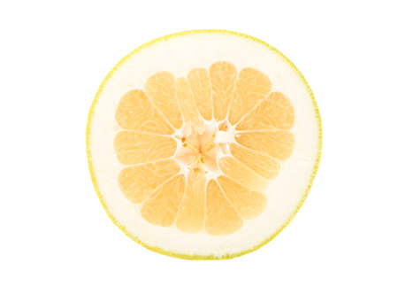 Juicy fruit Oroblanco half isolated on a white background