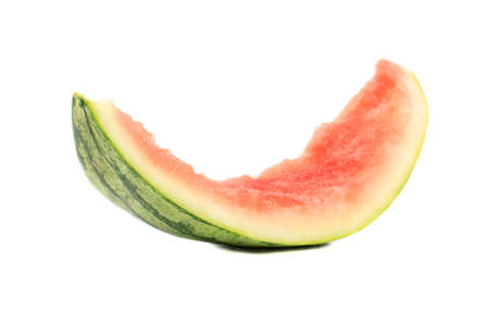 Eaten the rind of watermelon isolated on white background