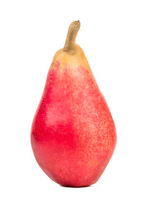 autumn colour: Fresh red pear isolated on white background Stock Photo