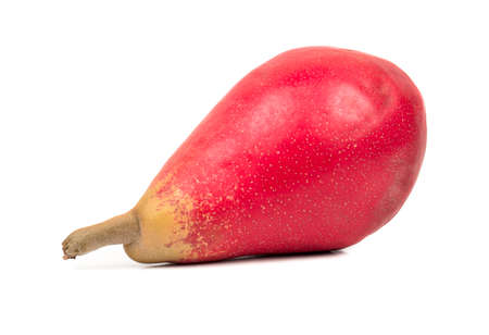 autumn colour: Fresh red pear fruit isolated on white background