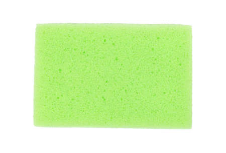 Green dish washing sponge on white background, top view Reklamní fotografie