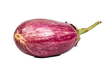 Fresh purple eggplant isolated on white background