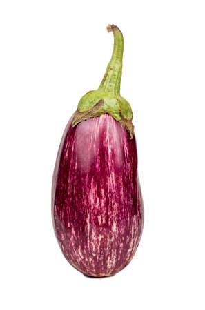 Fresh purple eggplant graffiti isolated on white background Фото со стока