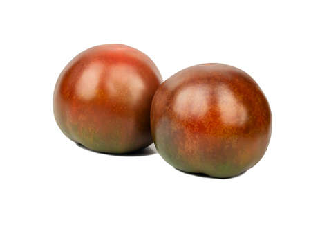 Two fresh kumato tomatoes on white background 写真素材