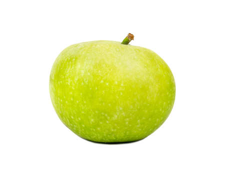 Fresh green apple isolated on white background