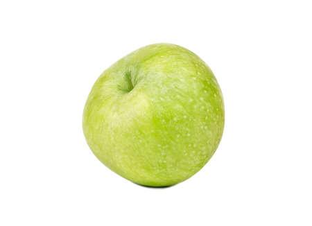 Fresh green apple fruit isolated on white background