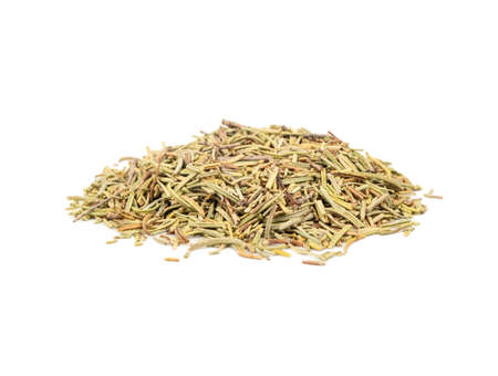 Bunch of dry rosemary isolated on white background