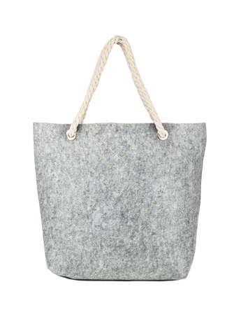 Felt shopping bag isolated on white background Фото со стока