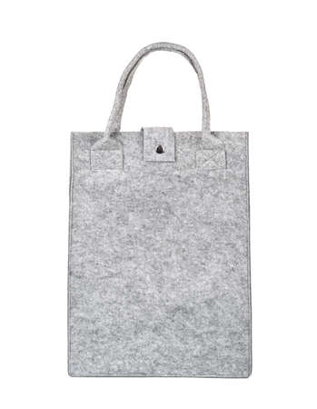 Felt shopping bag isolated on white background Archivio Fotografico