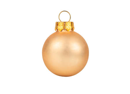 Beige Christmas ball isolated on white background