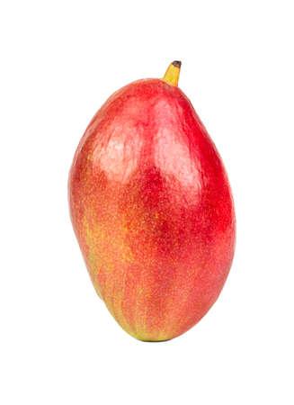 Ripe red mango fruit isolated on a white background 스톡 콘텐츠