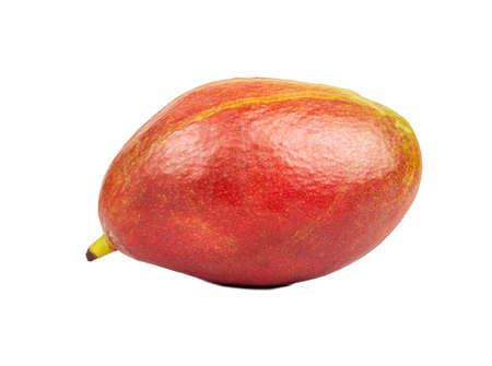 Delicious red mango fruit isolated on white background