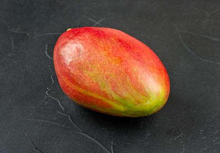 Red ripe mango fruit on a dark background Фото со стока