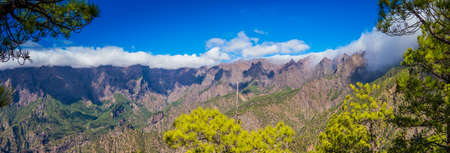 palma: Caldera in La Palma Stock Photo
