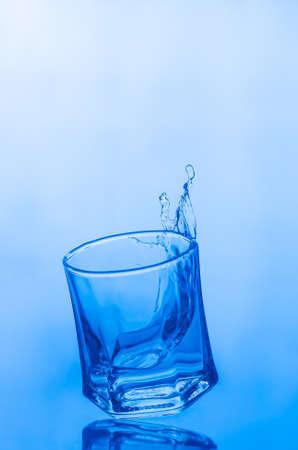 bubble acid: Water splash in a glass.