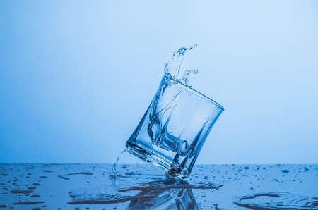 Water splash in a glass.