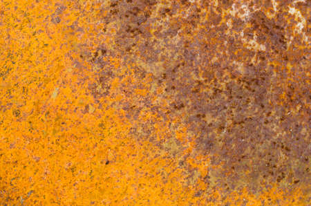 oxidate: Rust on an old sheet of metal texture.