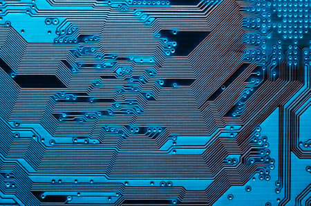 Electronic circuit board close up background texture.