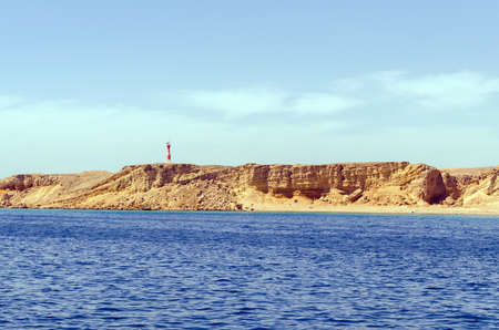 View from the sea at the lighthouse port of Sharm el Sheikh. Egypt 写真素材
