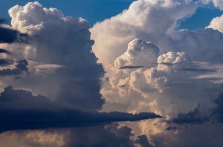 Beautiful stormy cumulus clouds in the sky, background Stok Fotoğraf
