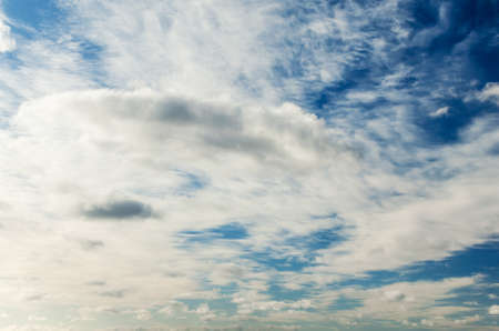 Beautiful clouds on a background of blue sky.