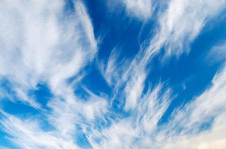 Beautiful fluffy clouds against the blue sky.