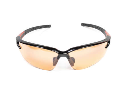 Safety glasses for athletes and workers, isolated on a white background. Zdjęcie Seryjne