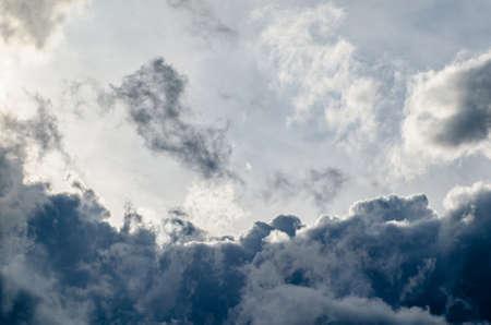 Beautiful stormy cumulus clouds in the sky, background Zdjęcie Seryjne