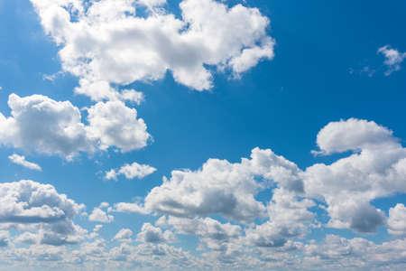 Beautiful clouds on a background of blue sky. 版權商用圖片