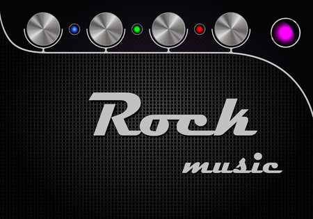 Guitar amplifier design with interface in modern style Vector