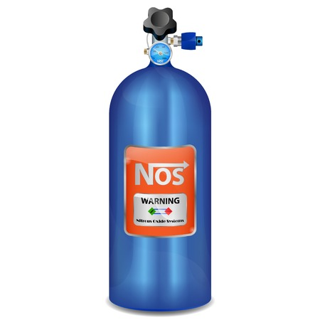 Vector illustration of nitrous oxide on a white background