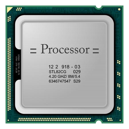 Processor. Computer Hardware Vector