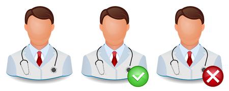 Vector icon doctor  Illustration isolated on white background  Illustration