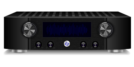 Vector illustration of hi-fi system isolated on white background